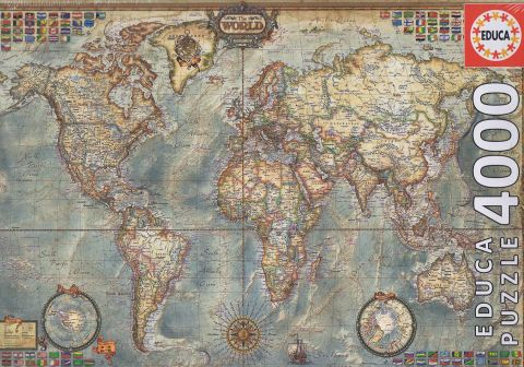 Political Map of the World, 4000 brikker (1)
