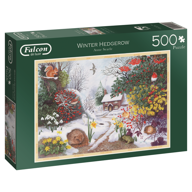 Image of   Winter Hedgerow, 500 brikker