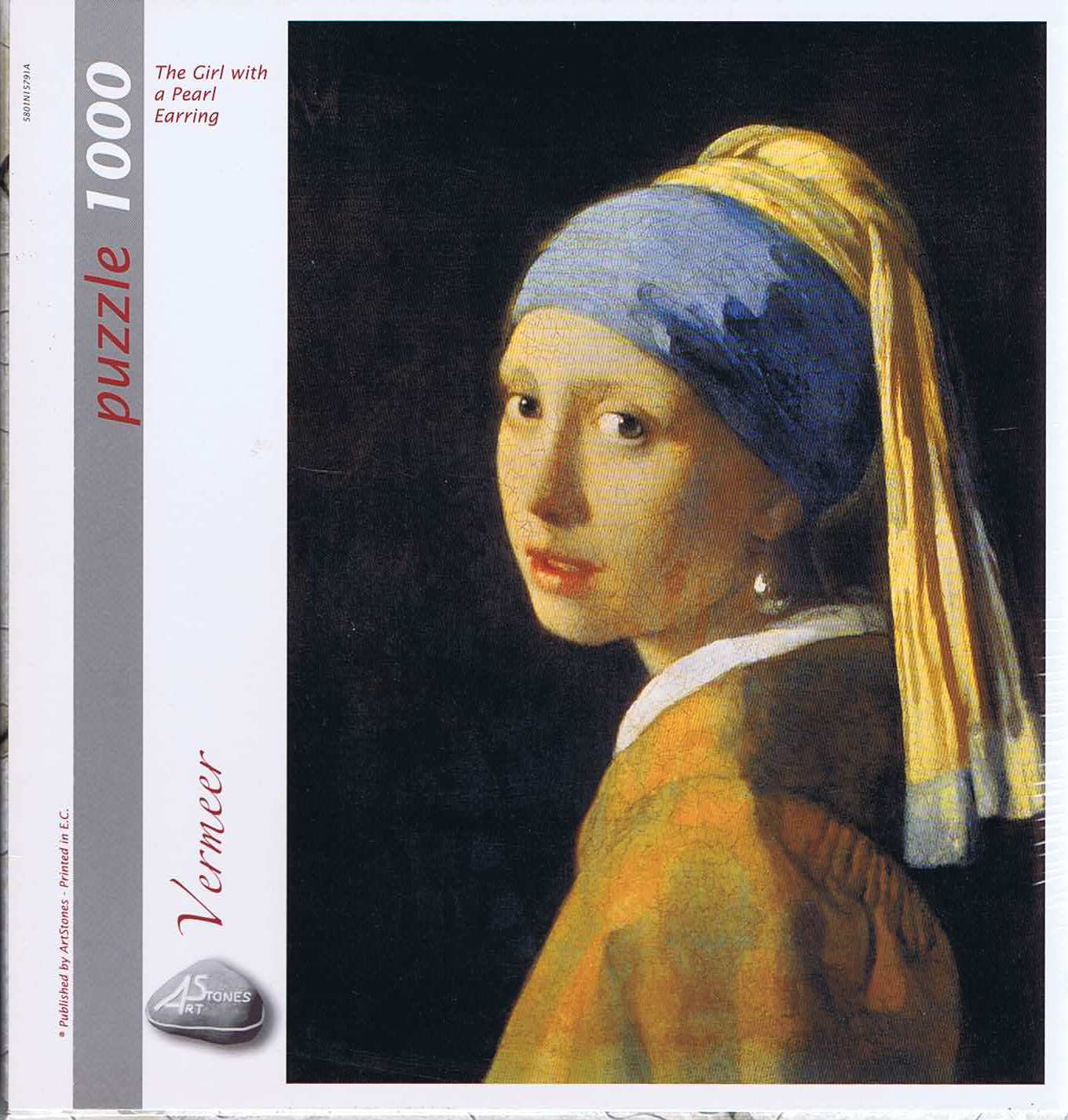 The girl with a Pearl Earring, 1000 brikker