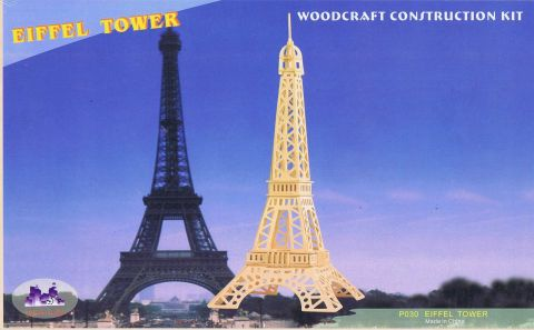 Eiffel Tower, Woodcraft Construction Kit (1)