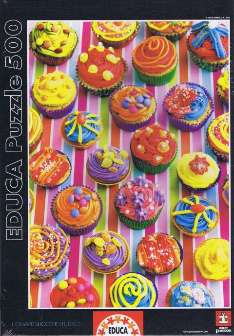 Colorful Cupcakes, 500 brikker (1)