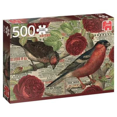 Image of   Birds Love Flowers, 500 brikker