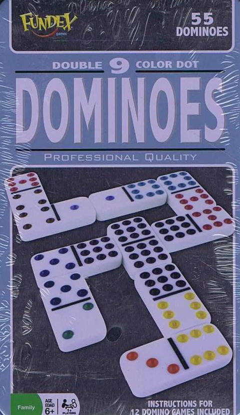 Dominoes Double 9 color Dot (1)