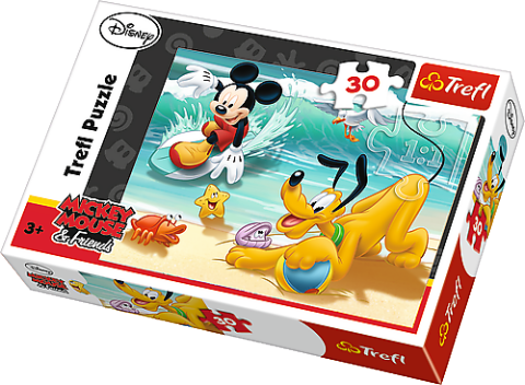 Disney - Mickey and Pluto at the beach, 30 brikker (1)