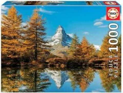 Matterhorn Mountain in Autumn, 1000 brikker (1)