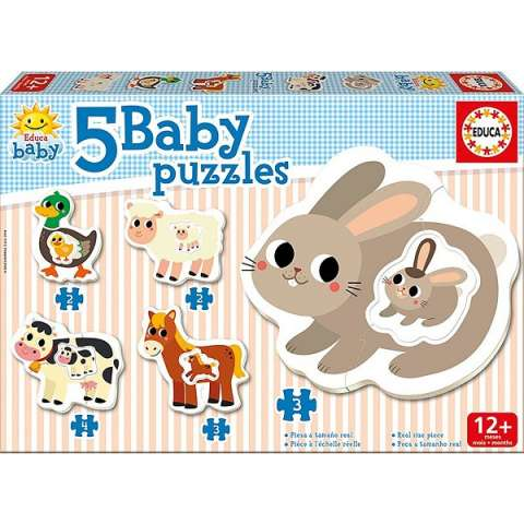 Baby Puzzles - The Farm - 2-4 brikker (1)