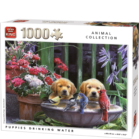 Puppies Drinking Water, 1000 brikker