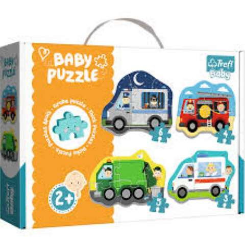 Baby Puzzles - Vehicles - 3/4/5/6 brikker (1)