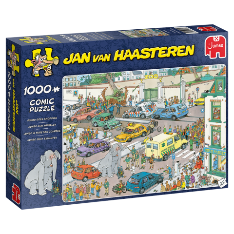 Jan van Haasteren - Jumbo Goes Shopping - 1000 Brikker (1)