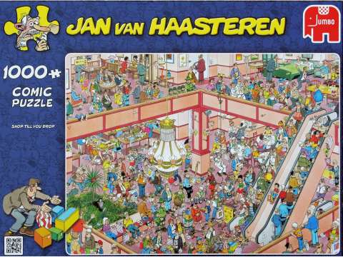 Jan van Haasteren - Shop till You Drop - 1000 brikker (1)