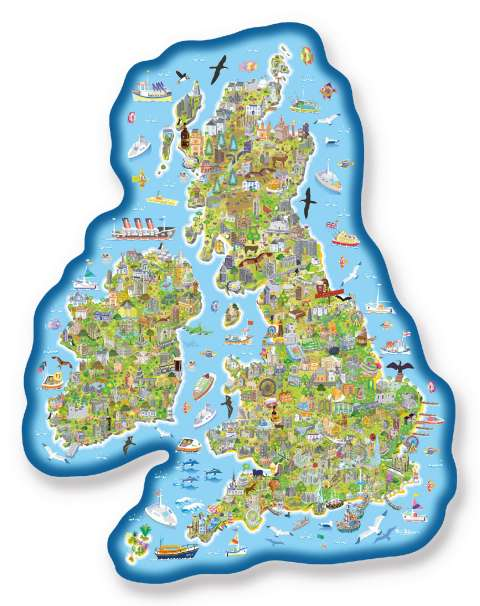 Jigmap - Great Britain & Ireland, 150 XL brikker (2)